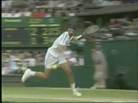 ivanisevic - Goran Ivanisevic executing one of the finest return game ever played against Pete Sampras in Wimbledon 1998 final.