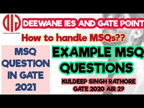 MSQ Question in GATE 2021| How to practice and Proper procedure for MSQ Portion | Demo