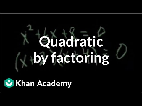 Solving a quadratic by factoring