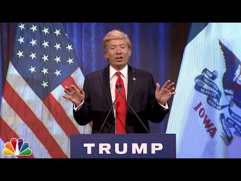Jimmy Fallon Spoofs Donald Trump's Iowa Caucus Speech