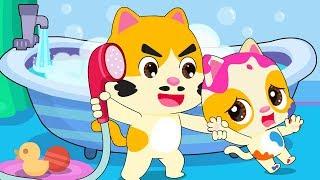 Bayi Kucing Tak Mau Mandi | Lagu Bayi Mandi | Lagu Anak-anak | BabyBus Bahasa Indonesia