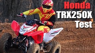 2. 2016 Honda TRX250X Test