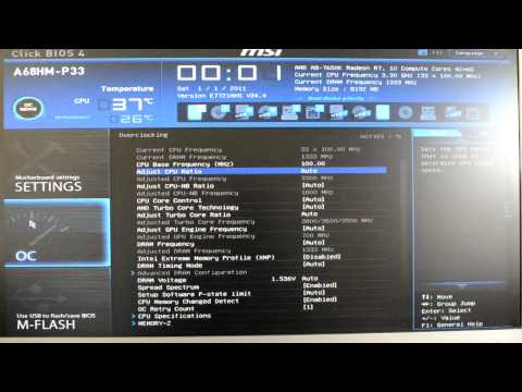 Review: MSI A68HM-P33 - BIOS