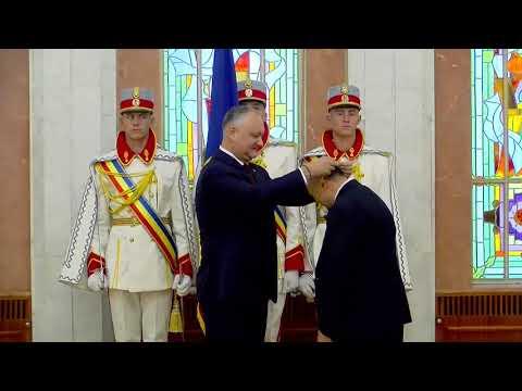 Președintele Republicii Moldova a conferit distincții de stat