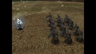 Thranduil against Uruk-hai in Lord of The Rings: The Battle for Middle Earth II- The Rise of the Witch-King- Edain Mod.
