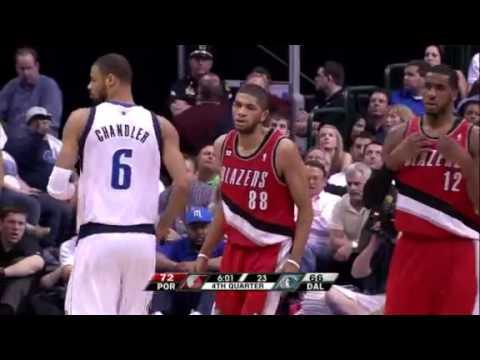 Game 1: Nicolas Batum dunks on the Mavericks