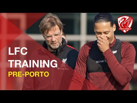 Liverpool FC Training | Ahead Of Champions League Tie Vs. FC Porto