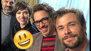 Video Avengers Infinity War Cast - 😊😅😊 Robert , Chris, Scarlett, Tom CUTE AND FUNNY MOMENTS 2018 MP3, 3GP, MP4, WEBM, AVI, FLV Mei 2018