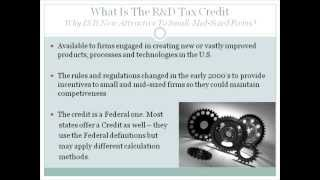 Research and Development Tax Credit Webinar