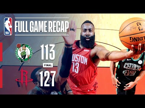 Game Recap: Celtics VS Rockets | Harden Goes Off For 45 Points