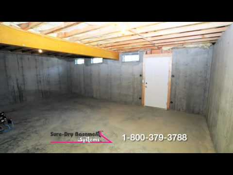 Sure Dry Basement Systems Basement Waterproofing Youtube