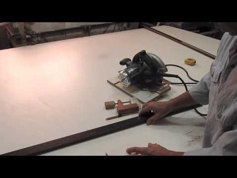 Serra circular manual nos trilhos - Baixo custo de fabricação