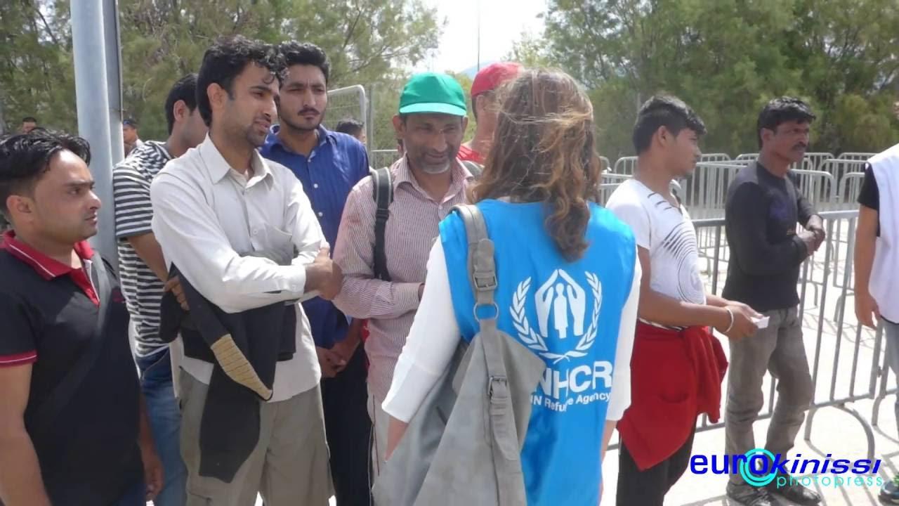 Προκαταγραφή προσφύγων και μεταναστών στο Ελληνικό