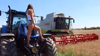 Żniwa 2018 z Iloną | Claas, New Holland | Dziewczyny na traktory