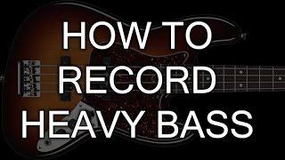 How to record Heavy Bass   SpectreSoundStudios TUTORIAL