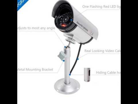 WALI Bullet Dummy Fake Surveillance Security CCTV Dome Camera Indoor Outdoor