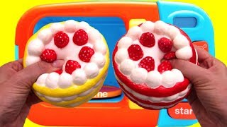 Video Squishy Strawberry & Banana Cake and Microwave Playset for Children Learn Colors MP3, 3GP, MP4, WEBM, AVI, FLV November 2017