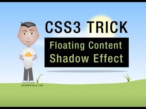 CSS3 Floating Content Shadow Effect border-radius Tutorial