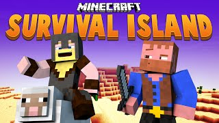 THE WIZARD'S TOWER BEGINS ★ Minecraft Survival Island (23)