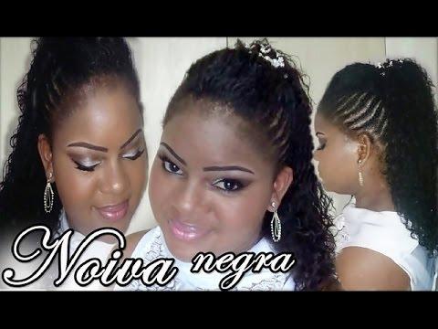 Penteado Moicano e Maquiagem para Noivas negras ♡