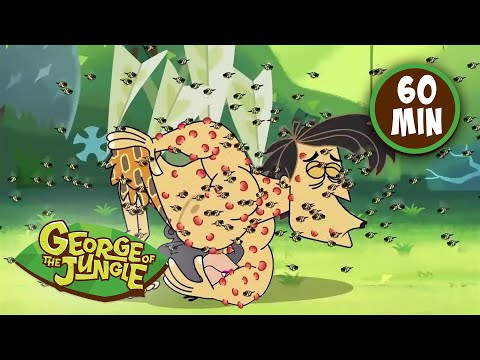 George Of The Jungle | As Strong as He Can Tree | Season 2 | 1 Hour Compilation | Kids Cartoon