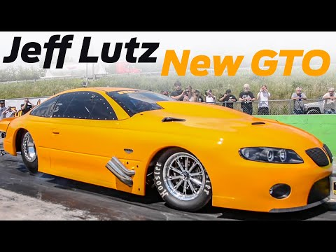 JEFF LUTZ New GTO Making Passes with FIREBALL Camaro and Death Trap - Street Outlaws No Prep Kings