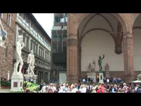Loggia dei Lanzi (or Loggia della Signoria) is on the Piazza della Signoria in Florence, Italy