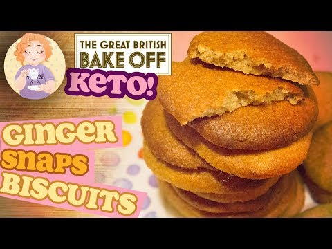 Low Carb Gingerbread Cookies 'Ginger biscuits' GingerSnaps Keto from The Great British Bake Off Fina