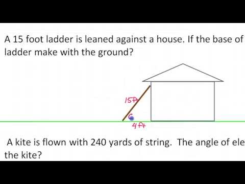 Applications of Trigonometric Functions (Word Problems Involving Tangent, Sine and Cosine)