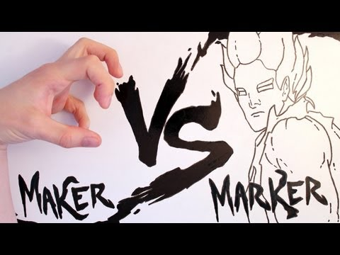 maker - Maker vs Marker is a stop motion fight between animator and animation taking place on a whiteboard. Based from the Street Fighter Series with elements of DBZ...