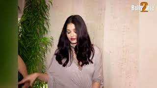 Aishwarya Rai Attend Sridevi's Birthday Bash At Manish Malhotra's Residence