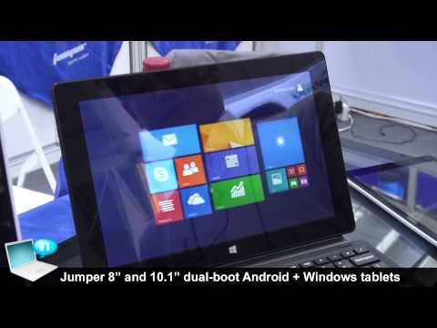 Jumper tablets 8inch 10inch dualboot Windows 8 Android Intel Bay Trail T (видео)
