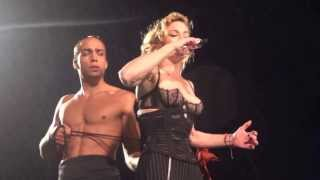Naked Madonna Shows Nipples And Get Dress Up Corset On The Stage ♥ MDNA Tour ~ Dublin 24.7.201s2