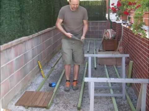 Loseta madera jardin videos videos relacionados con loseta madera jardin - Loseta para jardin ...