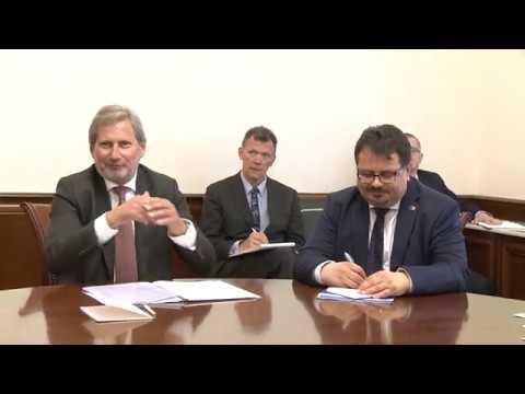 Președintele Republicii Moldova a avut o întrevedere cu Comisarul European pentru Politica Europeană de Vecinătate şi Negocieri pentru Extindere