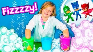 HOW TO MAKE Bath Fizzies Assistant Makes Surprise Toy Bath Fizzy Funny Kids Video