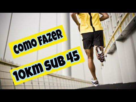Como correr 10km sub 45