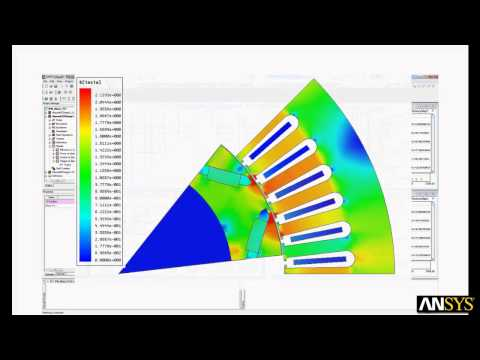 Electric Machine Design Flow with ANSYS, Inc. Tools