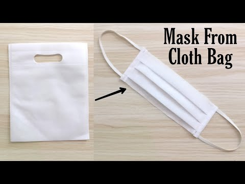 How To Make Mask At Home | Mask Making From Cloth bag | DIY Mask | Handmade Mask