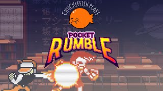 We streamed some Pocket Rumble! http://twitch.tv/chucklefishlivePocket Rumble is Cardboard Robot Games' debut title -- a streamlined, beginner-friendly 2D fighting game inspired by SNK's classic fighters for the Neo Geo Pocket Color.It retains all the gameplay elements that make traditional Street Fighter-style fighters great, but reduces the level of execution and memorization necessary to the bare minimum!Pocket Rumble is still in development, but you can purchase it and check it out on Steam Early Access now.***Pocket Rumble Website: http://cardboardrobotgames.tumblr.com/Press Kit: http://chucklefish.org/cbrobot-press/sheet.php?p=pocket_rumbleCardboard Robot Games: https://twitter.com/CardboardRobotGChucklefish on Twitter: https://twitter.com/ChucklefishLTDChucklefishLive on Twitch: http://twitch.tv/chucklefishlive