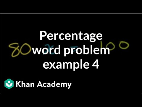 Percent Word Problem 100 Is What Percent Of 80 Video Khan Academy