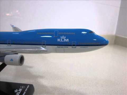 Boeing 747-400 KLM Herpa Wooster Wings 1/250
