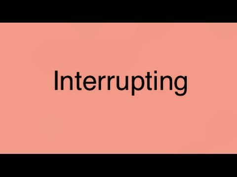 How to teach your child to STOP interrupting!