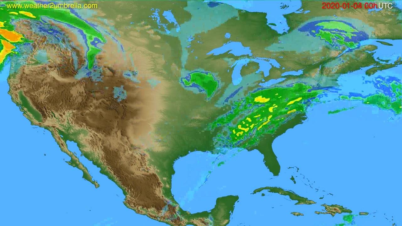 Radar forecast USA & Canada // modelrun: 12h UTC 2020-01-03