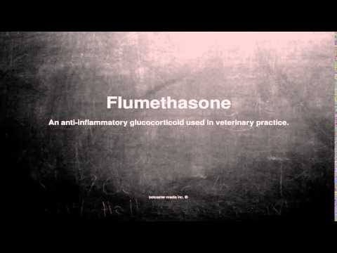 Medical vocabulary: What does Flumethasone mean