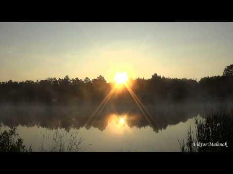 Солнце встает рассвет туман над водой природа релакс медитация музыка йога сон