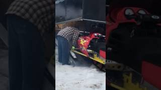 9. Loading the Polaris's on my restored clamshell trailer