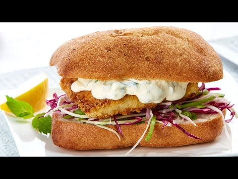 Bulla Fish Burgers With Slaw And Creamy Dressing