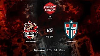 Team Espada vs Team Empire, DreamLeague Minor Qualifiers CIS, bo3, game 1 [NS & Maelstorm]
