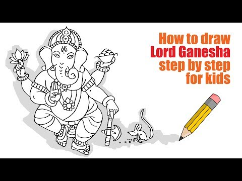 (How to draw Lord Ganesha step by step for kids - Duration: 3 minutes, 15 seconds.)